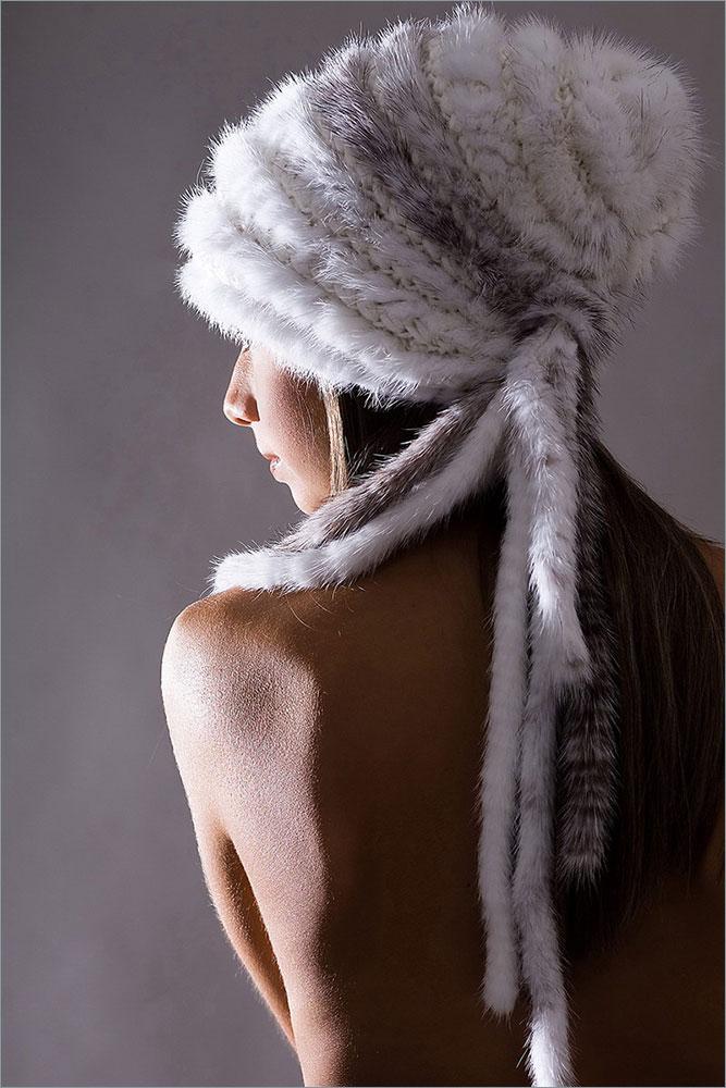 Женская меховая шапка (норка) арт. 13 Hailey