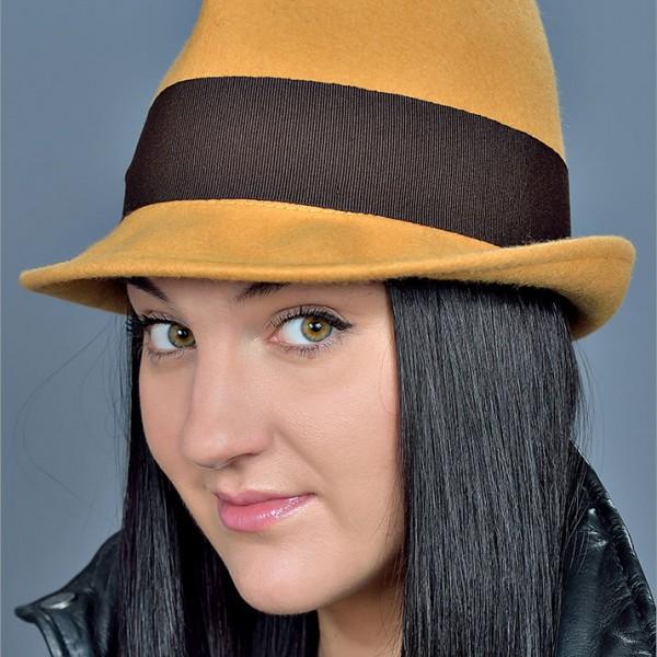 Женская фетровая шляпа арт. 15844