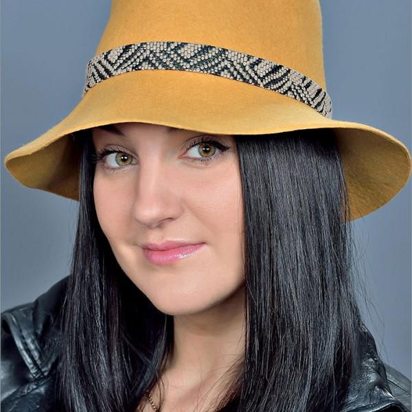 Женская фетровая шляпа арт. 15873