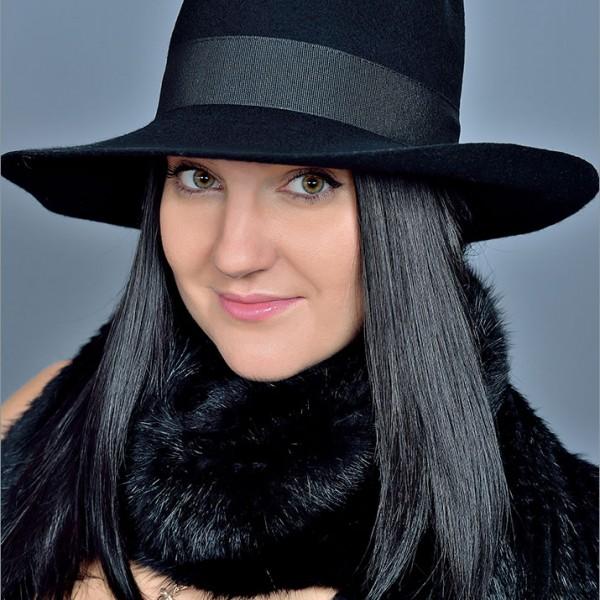 Женская фетровая шляпа арт. 15905