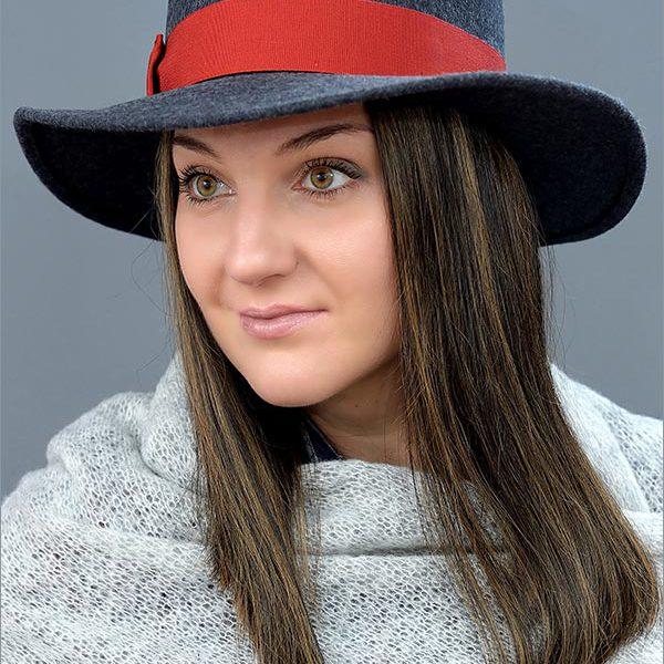 Женская фетровая шляпа арт. 16940