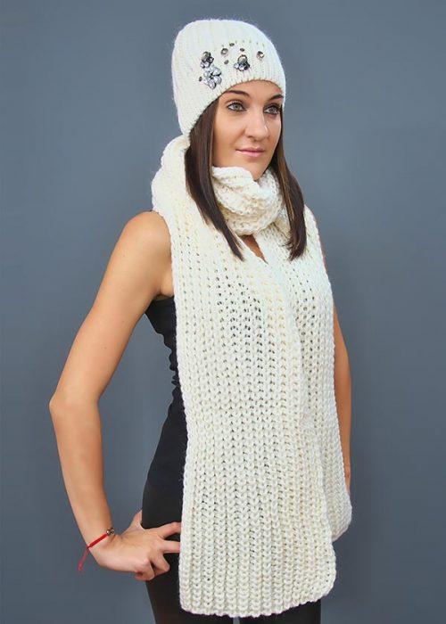 Женская шапка арт. M1502 + шарф арт. M1508SC