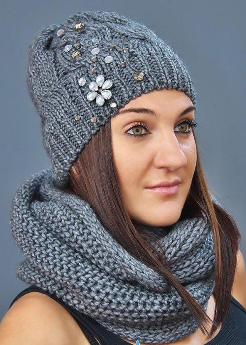 Женская шапка арт. M1503 + шарф арт. M1271