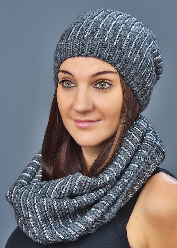 Женская шапка арт. CF2998 + шарф арт. SC3088